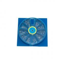 Kształtki (korony) poliestrowe 32szt siekacze GÓRNE-Zdjęcie