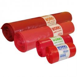 Worki na odpady medyczne czerwone-120l.-25szt MOCNE