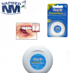 Nić Oral-B  ESSENTIAL FLOSS woskowana-miętowa – 50m.