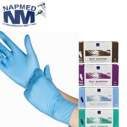Rękawice nitrylowe NIEBIEŚCIUTKIE – 100szt.