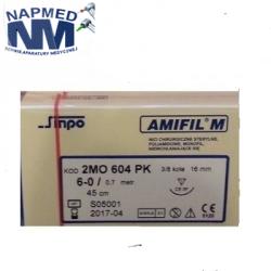 Amifil M 4/0 nici stomatologiczne niewchłanialne, niebieskie-1szt